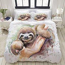Yaoniii bedding - Duvet Cover Set, Baby Sloth