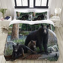 Yaoniii bedding - Duvet Cover Set, Bear Mother and