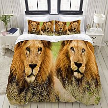 Yaoniii bedding - Duvet Cover Set, Lions Animal