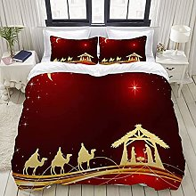 Yaoniii bedding - Duvet Cover Set, Sky Red King