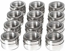 Yaootely Magnetic Spice Jars Container Set with