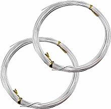 YapitHome 2 Rolls 1mm Aluminum Wires 20m Craft