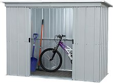 Yardmaster Pent Metal Garden Shed - 8 x 4ft