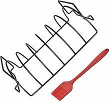 Yardwe 1 Set Stainless Steel Rib Rack with