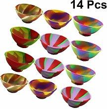 Yardwe 14pcs Mini Silicone Pinch Bowls Prep and