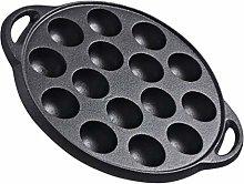 Yardwe 1PC Cast Iron Stuffed Pancake Pan