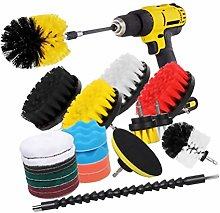 Yardwe 23pcs Drill Brush Attachment Set Electric