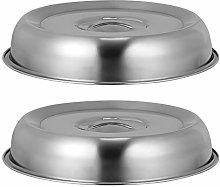 Yardwe 2pcs Stainless Steel Round Basting Cover