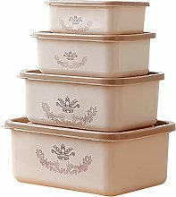 Yardwe 4pcs Food Storage Containers with Lids Food
