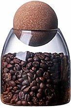 Yardwe 500ML Glass Storage Jars with Wood Lid