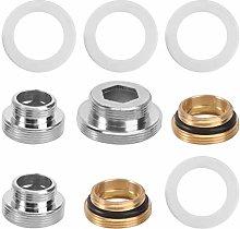 Yardwe 5pcs Faucet Adapter Kit Copper Brass