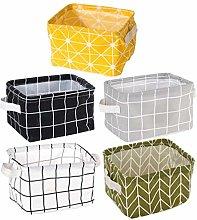 Yardwe 5pcs Small Storage Basket Cloth Nursery