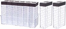 Yardwe 8pcs Clear Plastic Airtight Food Storage
