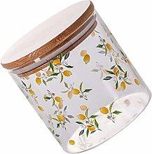 Yardwe Glass Canister Food Storage Jar Airtight