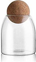 Yardwe Glass Food Storage Jar Kitchen Canister