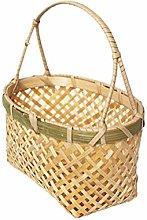 Yardwe Handmade Woven Bamboo Basket Household