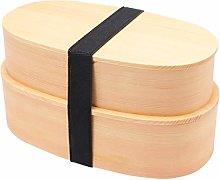 Yardwe Japanese Bento Box Wooden Lunch Box