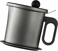 Yardwe Oil Strainer Pot Grease Can Stainless Steel