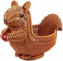 Yardwe Small Key Basket Wicker Fruit Bread Basket