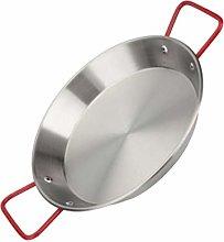 Yardwe Stainless Steel Paella Pan Pata Negra Pan
