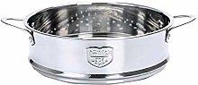 Yardwe Steamer Insert Pans Stainless Steel Steamer