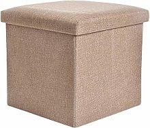 Yardwe Storage Ottoman Seat Cube Footrest Stool