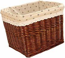 Yardwe Woven Storage Basket Rectangular Wicker