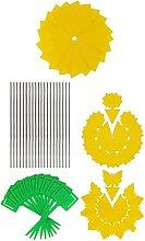 YARNOW 1 Set Fruit Fly Traps Yellow Sticky Gnat