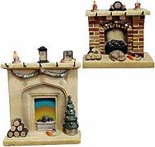 YARNOW 2Pcs Resin Fairy Garden Miniature Fireplace