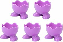 YARNOW 5Pcs Silicone Egg Cup Holder Stands Boiled