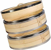 YARNOW Bamboo Steamer, 7 Inch Food Steamer with