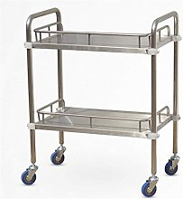 YASEking Trolley - Double Stainless Steel Medical