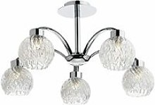 Yasmin ceiling light polished chrome and glass 5