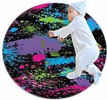 YATELI Round Area Rug Carpet Splatter Paint(5)