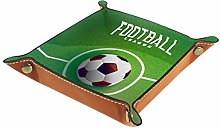YATELI Small Storage Box,mens valet tray,Football