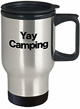 Yay Camping Mug Travel Coffee Cup Funny Gift for