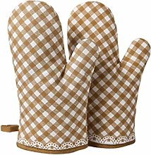yaya 1 Pair Oven Mitts High-temperature Cotton