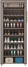 YAYI Tall Shoe Rack 9-Tier Shoe Shelf Hode up to