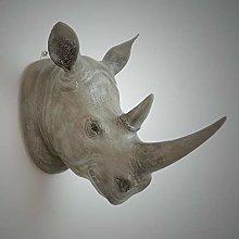 YB&GQ Decor Art Rhino Head Wall Mount False