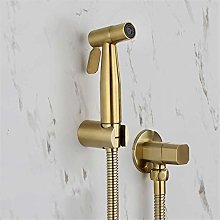YBQ Hand Held Toilet Sprayer Brushed Gold