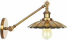 YBright Retro Swing Arm Wall Lamps Brushed Gold