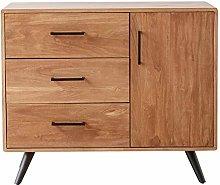 YBWEN Sideboard Living Room Cabinet Retro