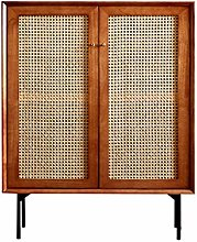 YBWEN Sideboard Rattan Storage Cabinet Sideboard