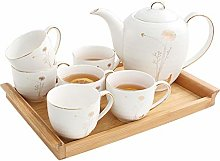 YBWEN Tea Set Ceramic Coffee Set Simple Tea Set