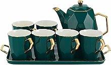 YBWEN Tea Set Ceramic Tea Set Luxury Home American