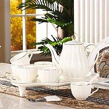 YBWEN Tea Set Coffee Set Home Western Ceramic Tea
