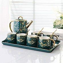 YBWEN Tea Set Creative Coffee Cup Dish Set