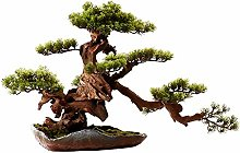 YBYB Artificial Tree Artificial Bonsai Welcoming