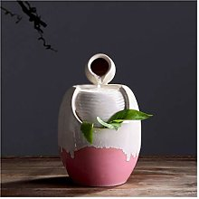 YBYB Tabletop Fountain Water Glazed Pot Fountain