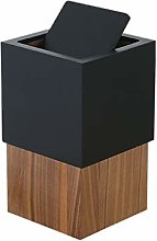 YBYB Waste bin Nordic Wooden Square Trash Can
